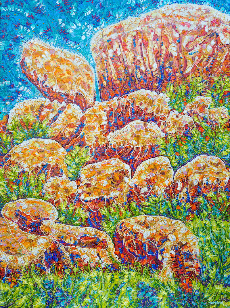 (CreativeWork) Devils Marbles by Tina Dinte. arcylic-painting. Shop online at Bluethumb.