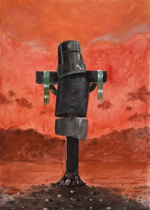 (CreativeWork) Rust and dust - Ned Kelly Series - watercolour sketch for one of my painting by Max Horst  Sokolowski. #<Filter:0x00007f7ce5ae7a68>. Shop online at Bluethumb.