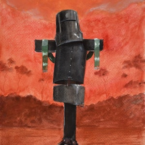 (CreativeWork) Rust and dust - Ned Kelly Series - watercolour sketch for one of my painting by Max Horst  Sokolowski. watercolour. Shop online at Bluethumb.