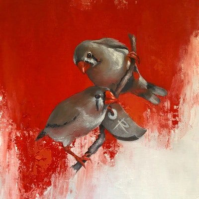 (CreativeWork) CHINESE WHISPERS by Rosa Fedele. oil-painting. Shop online at Bluethumb.
