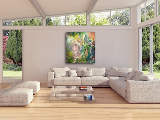 (CreativeWork) Holding the Light by Tania Weekes. Oil Paint. Shop online at Bluethumb.
