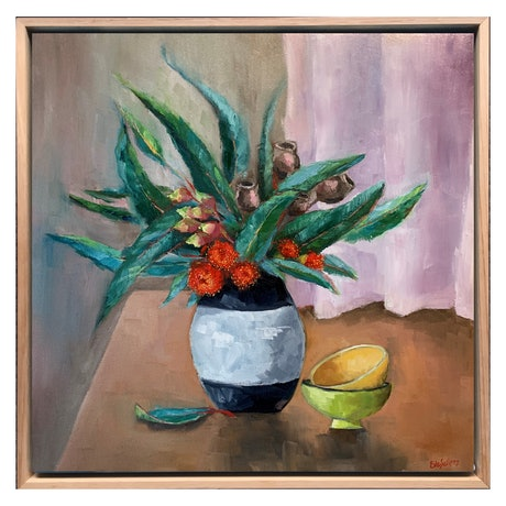 (CreativeWork) Entice (Framed Still Life) by Eve Sellars. Oil Paint. Shop online at Bluethumb.