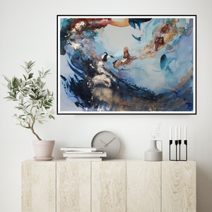 (CreativeWork) Submerged by Michelle Drougas. mixed-media. Shop online at Bluethumb.