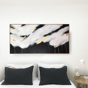 (CreativeWork) Odyssey Clouds by Marnie McKnight. arcylic-painting. Shop online at Bluethumb.