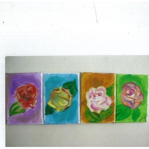 (CreativeWork) roses by grace wilkinson. acrylic-painting. Shop online at Bluethumb.