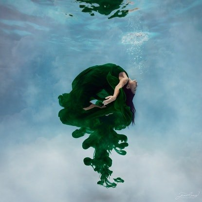 (CreativeWork) Ink - Emerald II Ed. 1 of 25 by Jane Long. Photograph. Shop online at Bluethumb.