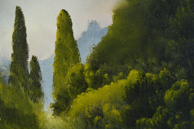 (CreativeWork) As the Mist Lifted by Elaine Green. Oil Paint. Shop online at Bluethumb.