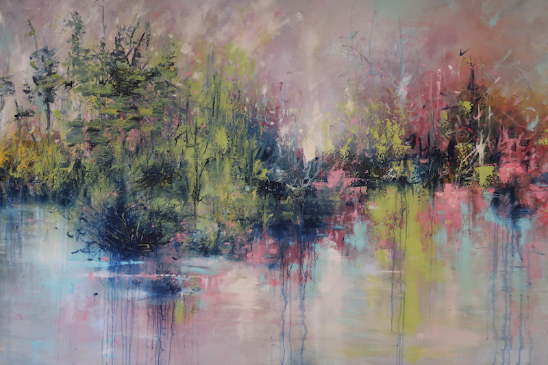 (CreativeWork)  PERFECT ESCAPE - Large Canvas by Maria Cross. Mixed Media. Shop online at Bluethumb.