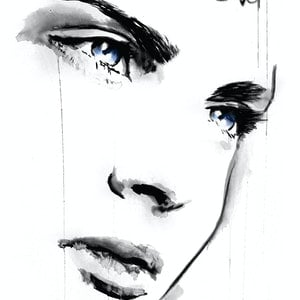 (CreativeWork) MISTY EYED by loui jover. drawing. Shop online at Bluethumb.