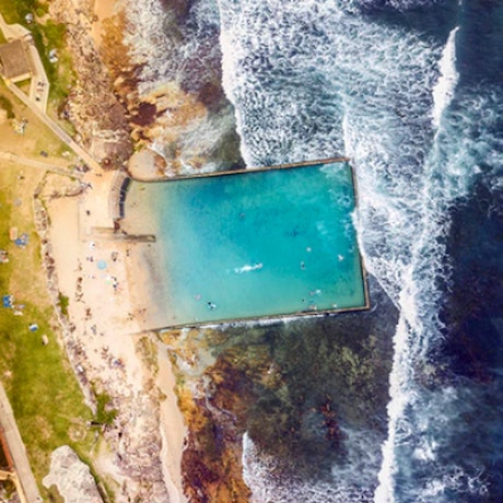 (CreativeWork) Cronulla Rock Pool I Ed. 1 of 50 Ed. 2 of 50 by Ali Diab. Photograph. Shop online at Bluethumb.