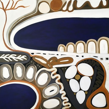 (CreativeWork) Point Nepean V by Sarah Morrow. Acrylic Paint. Shop online at Bluethumb.