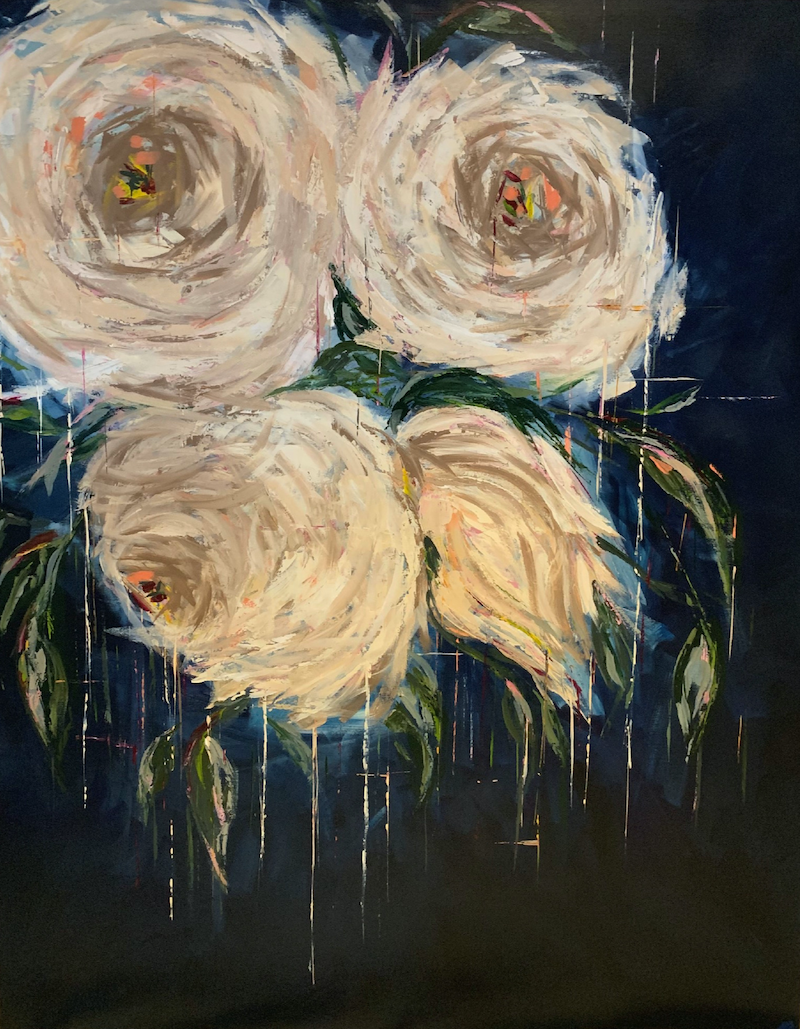 (CreativeWork) Secret Garden 5 - Shades of the Night Garden by Maggie Deall. Acrylic Paint. Shop online at Bluethumb.