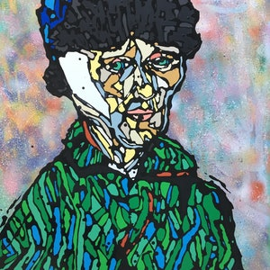 (CreativeWork) Vincent Van Pop by Jonathan Redmayne. mixed-media. Shop online at Bluethumb.