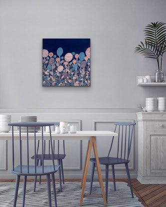 (CreativeWork) Trees and Blooms 2 CZ20020 by Carol Zsolt. Acrylic Paint. Shop online at Bluethumb.