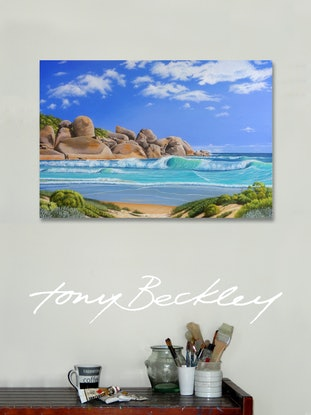 (CreativeWork) The Prom by Tony Beckley. Acrylic Paint. Shop online at Bluethumb.
