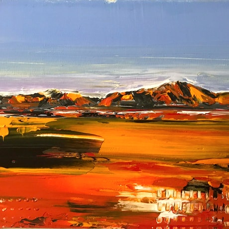 (CreativeWork) Red Dirt by Hilly Coufreur. Acrylic Paint. Shop online at Bluethumb.