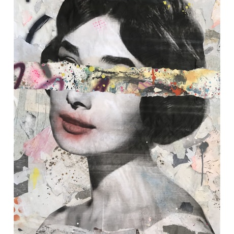 (CreativeWork) Street Icon 143 - Audrey  by Cold Ghost. Mixed Media. Shop online at Bluethumb.