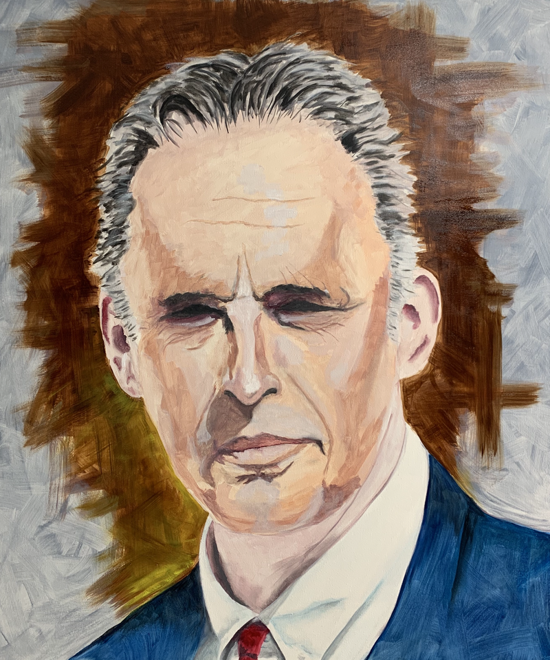 (CreativeWork) Jordan Peterson by Tom Roso. oil-painting. Shop online at Bluethumb.