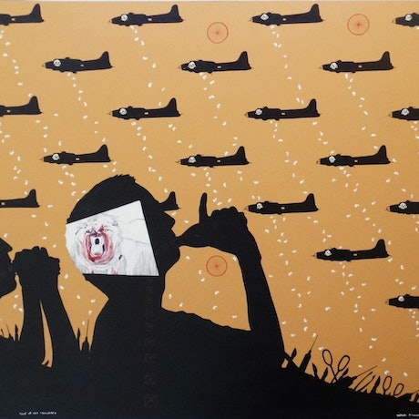 (CreativeWork) land of the cannibals by Adam Kanofski. Mixed Media. Shop online at Bluethumb.