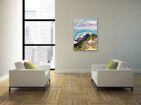 (CreativeWork) Headland by Meredith Howse. Acrylic Paint. Shop online at Bluethumb.
