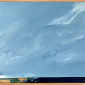 (CreativeWork) Drama In the Sky Above by Marnie McKnight. arcylic-painting. Shop online at Bluethumb.