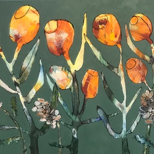 (CreativeWork) Thursday Banksias by Mary-Anne Stuart. acrylic-painting. Shop online at Bluethumb.