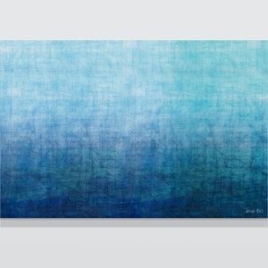 (CreativeWork) The Gradual Waters mixed media on Canvas, Ready to hang    by George Hall. #<Filter:0x00005593a66ca4a0>. Shop online at Bluethumb.