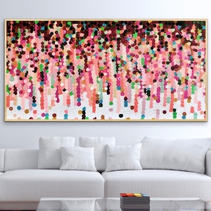 (CreativeWork) Mooi  183x93 framed large abstract  by Sophie Lawrence. acrylic-painting. Shop online at Bluethumb.