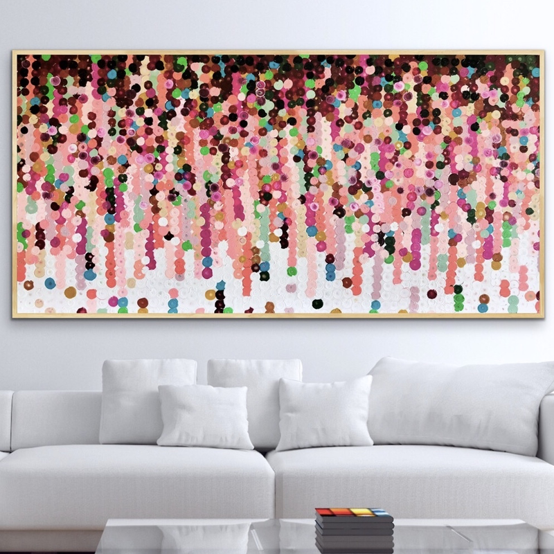 (CreativeWork) Mooi  183x93 framed large abstract  by Sophie Lawrence. Acrylic Paint. Shop online at Bluethumb.
