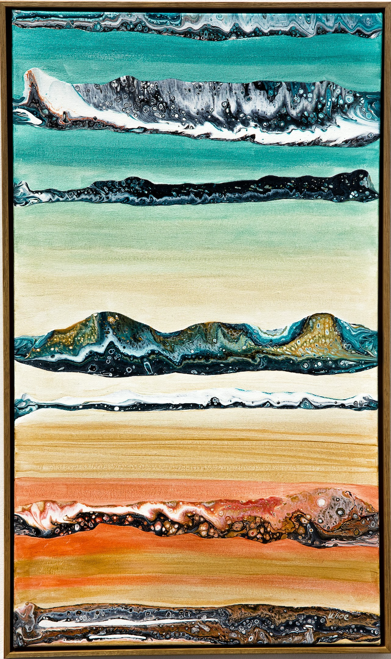 (CreativeWork) Rising by Kate Wise. Acrylic Paint. Shop online at Bluethumb.