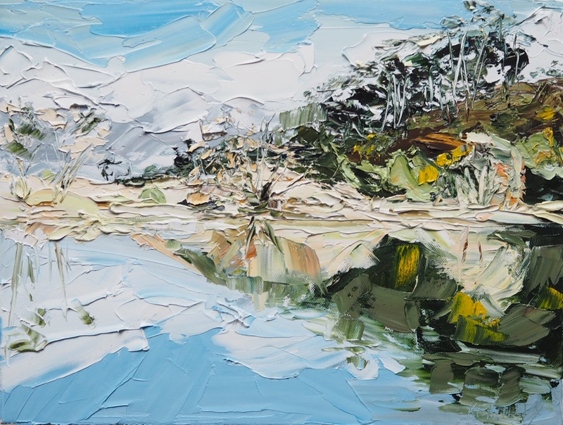(CreativeWork) Light and Movement- Australian Landscape by Michelle Keighley. Oil Paint. Shop online at Bluethumb.