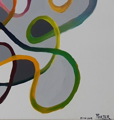 "(CreativeWork) ""The Endless Line"" by Haydn Porter. Acrylic Paint. Shop online at Bluethumb."