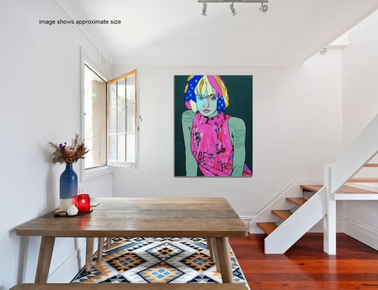 (CreativeWork) Modern Woman by Lesley Taylor. Acrylic Paint. Shop online at Bluethumb.