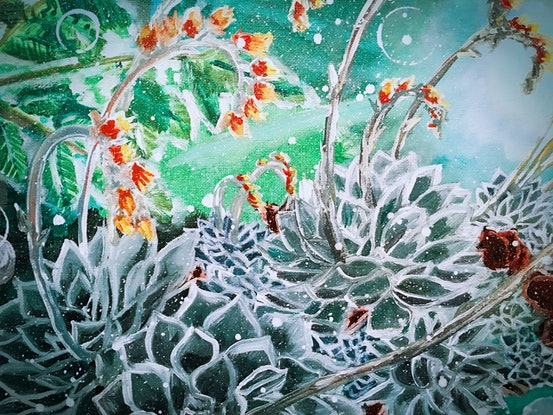 (CreativeWork) BLOOMING ECHEVERIA - LIMITED EDITION GICLEE PRINT Ed. 3 of 50 by HSIN LIN. Print. Shop online at Bluethumb.
