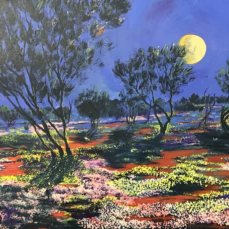 (CreativeWork) Nature's Garden 1 by Wayne Richardson. Acrylic Paint. Shop online at Bluethumb.