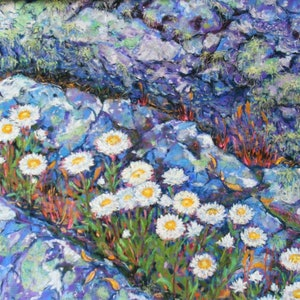 "(CreativeWork) HIGHLAND DAISIES 2"" by Daniela Selir. drawing. Shop online at Bluethumb."