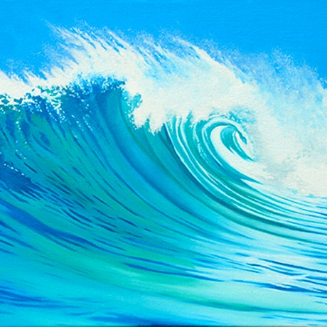 (CreativeWork) Rising Swell by Mark Kingston. Oil Paint. Shop online at Bluethumb.