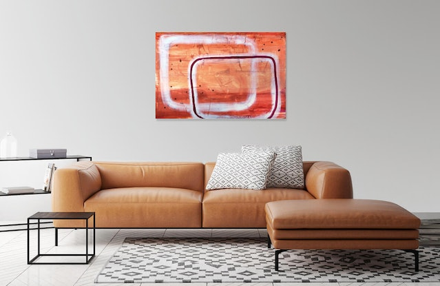 (CreativeWork) Holding The Space  by Bryn Newman. Acrylic Paint. Shop online at Bluethumb.