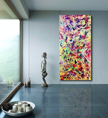 (CreativeWork) Living in Another World by Estelle Asmodelle. Acrylic Paint. Shop online at Bluethumb.