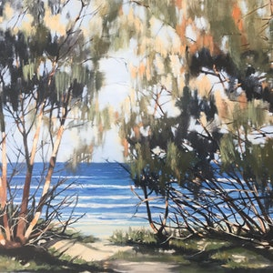 (CreativeWork) Afternoon Glow by Leanne Manns. acrylic-painting. Shop online at Bluethumb.