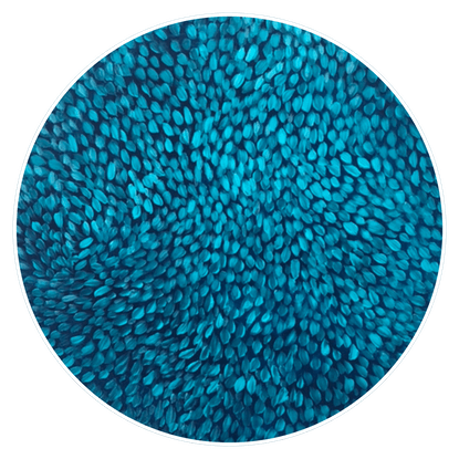 (CreativeWork) Turquoise Petals  Not Framed by Theo Papathomas. Acrylic Paint. Shop online at Bluethumb.