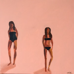 (CreativeWork) Locals Only by Marnie McKnight. arcylic-painting. Shop online at Bluethumb.