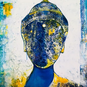 (CreativeWork) The Ethereal Buddha  by Kanak Kiran. mixed-media. Shop online at Bluethumb.