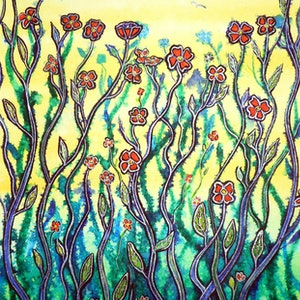(CreativeWork) Spring Begins by Linda Callaghan. mixed-media. Shop online at Bluethumb.