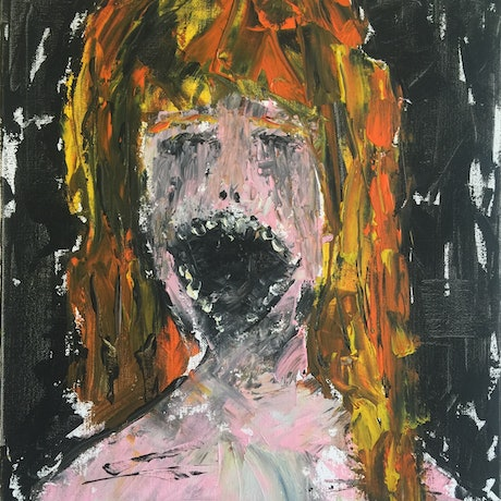 (CreativeWork) Yell by Thomas R Poole. Acrylic Paint. Shop online at Bluethumb.