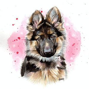 (CreativeWork) Mia by Holley Ryan. watercolour. Shop online at Bluethumb.