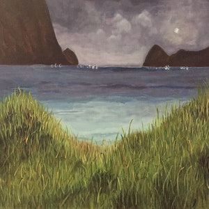 (CreativeWork) Lord Howe Lagoon by Ilona Kovacs. acrylic-painting. Shop online at Bluethumb.