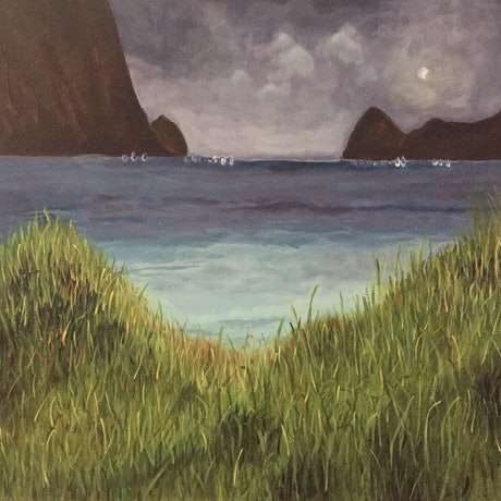 (CreativeWork) Lord Howe Lagoon by Ilona Kovacs. Acrylic Paint. Shop online at Bluethumb.