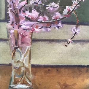 (CreativeWork) Blossom, into the light by Ray Wilson. oil-painting. Shop online at Bluethumb.