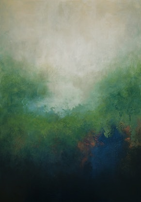 (CreativeWork) Morning Mist by Brigitte Ackland. Acrylic Paint. Shop online at Bluethumb.